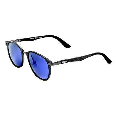 Breed Cetus Aluminium and Carbon Fiber Polarized Sunglasses - Gunmetal/Blue