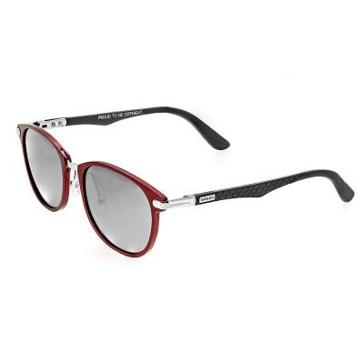 Breed Cetus Aluminium and Carbon Fiber Polarized Sunglasses - Red/Silver
