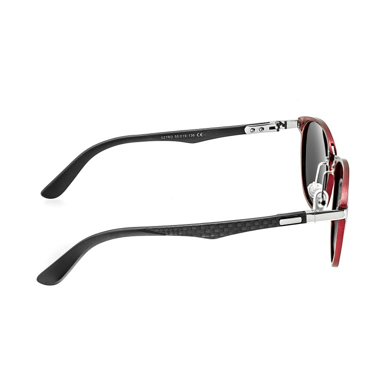 Breed Cetus Aluminium and Carbon Fiber Polarized Sunglasses - Red/Silver BSG027RD