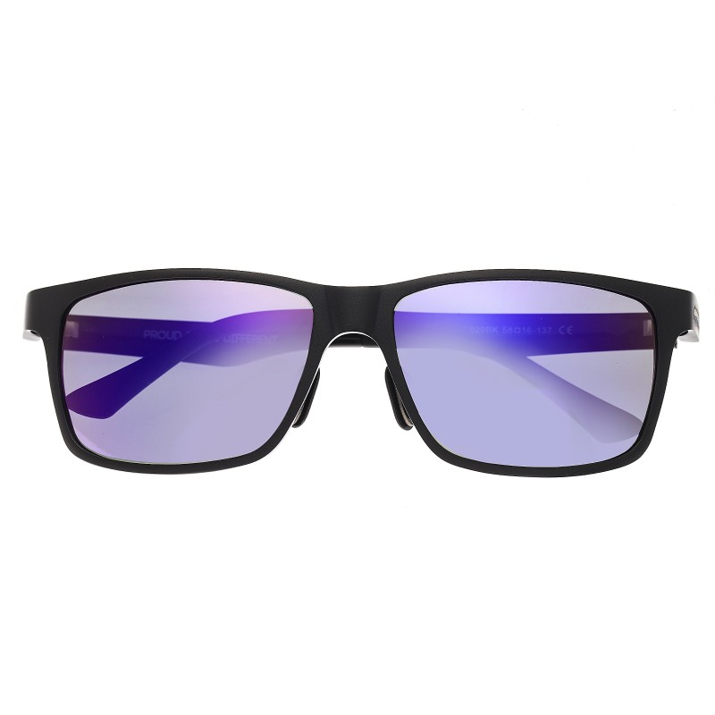 Breed Vulpecula Titanium Polarized Sunglasses - Black/Purple BSG029BK