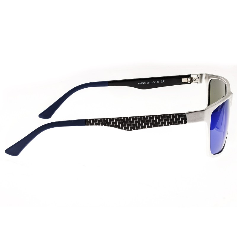 Breed Vulpecula Titanium Polarized Sunglasses - Silver/Purple-Blue BSG029SR