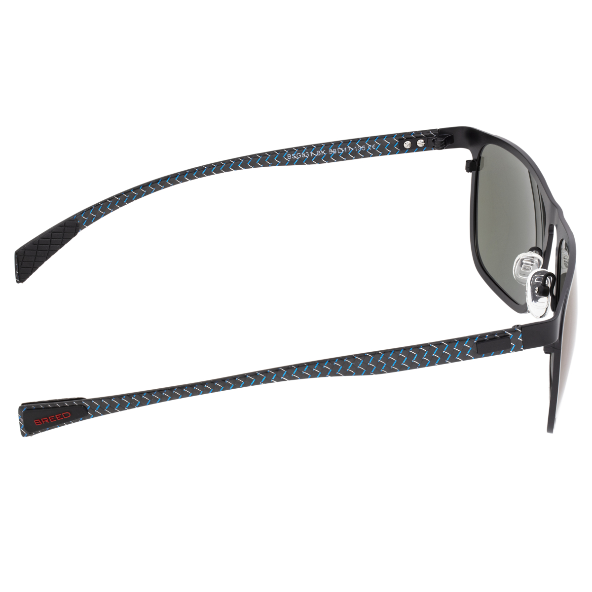 007edd25c315 Breed Capricorn Titanium Polarized Sunglasses - Black/Blue BSG031BK ...