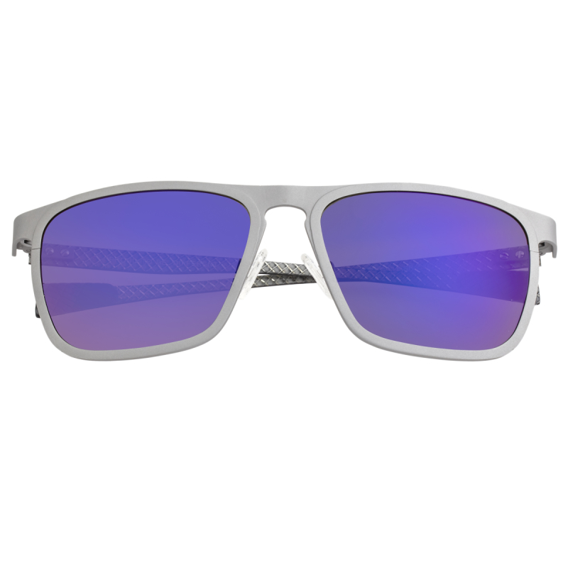 Breed Capricorn Titanium Polarized Sunglasses - Silver/Purple-Blue BSG031SR