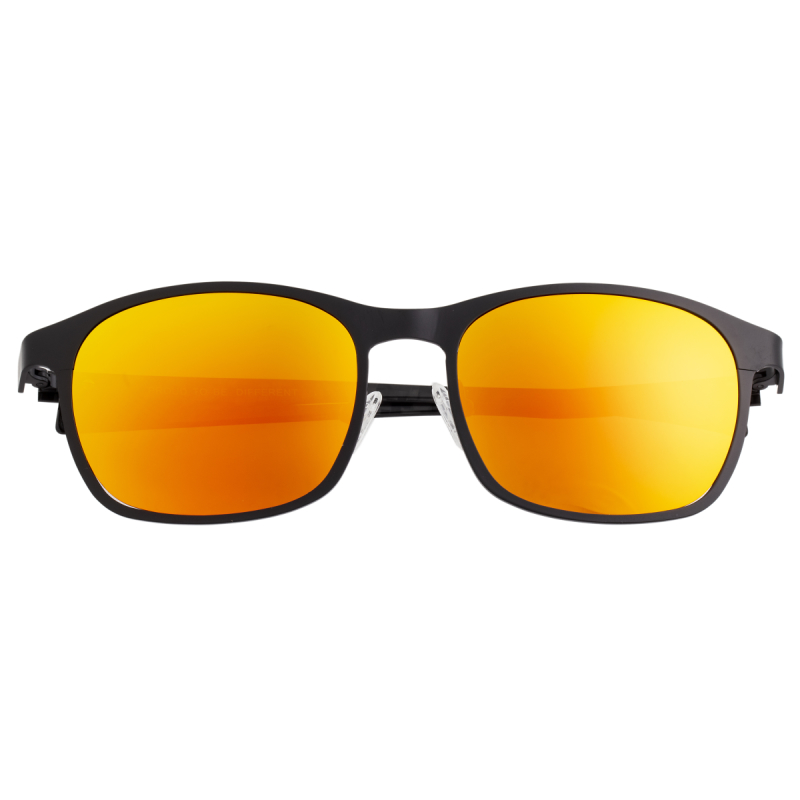 Breed Halley Titanium Polarized Sunglasses - Black/Red-Yellow BSG034BK