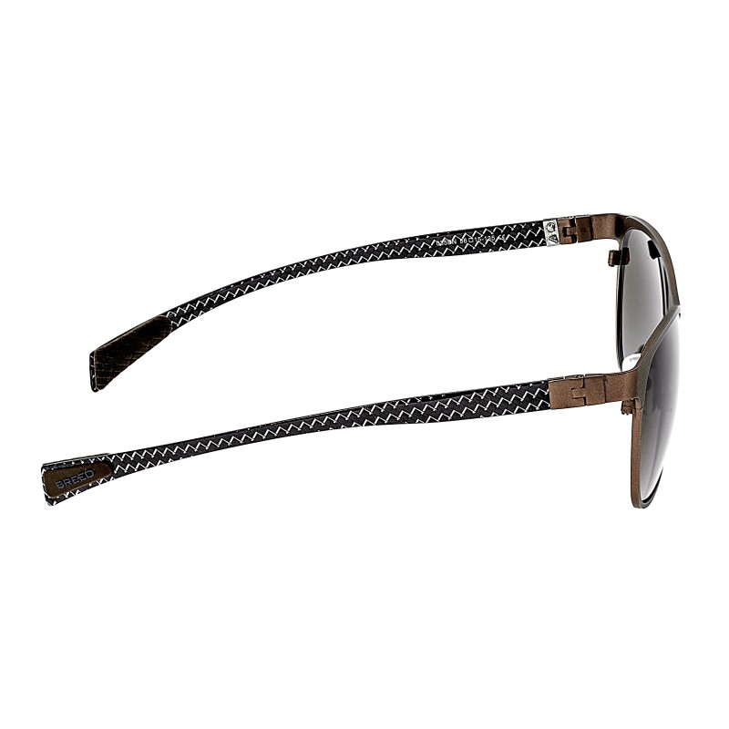 Breed Templar Titanium Polarized Sunglasses - Brown/Brown BSG035BN
