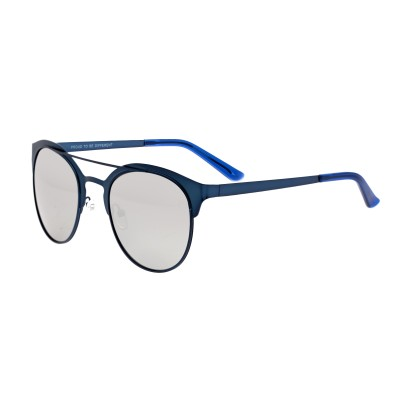 Breed Phoenix Titanium Polarized Sunglasses - Blue/Silver