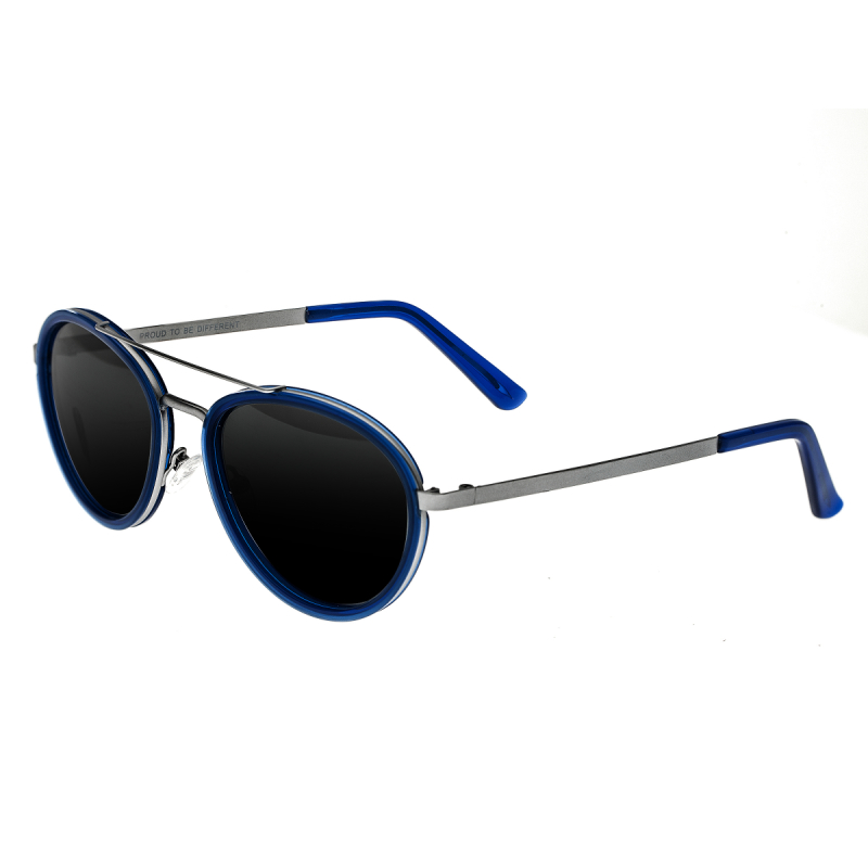 Breed Gemini Titanium Polarized Sunglasses - Silver-Blue/Silver BSG038SL