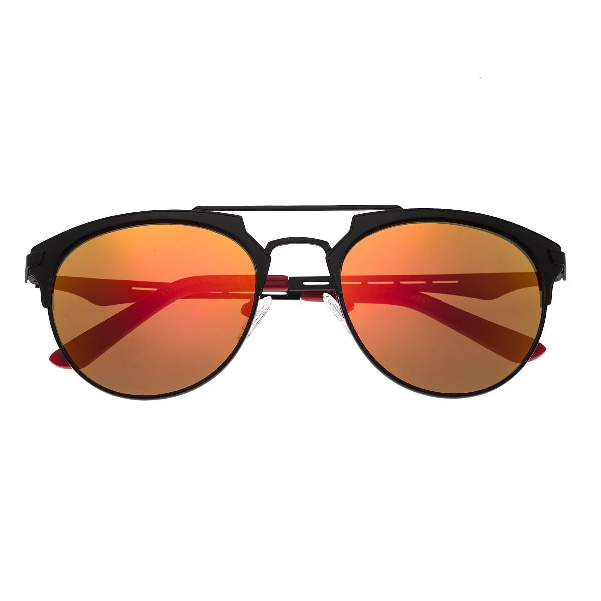 be0db14bd210 Breed Hercules Titanium Polarized Sunglasses - Black/Red-Yellow BSG039BK