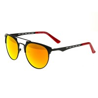 Breed Hercules Titanium Polarized Sunglasses - Gunmetal/Celeste-Yellow BSG039GM
