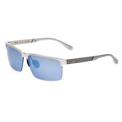 Breed Xenon Titanium Polarized Sunglasses - Silver/Blue