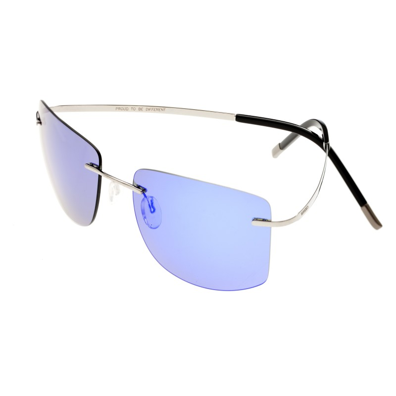 Breed Aero Polarized Sunglasses - Gunmetal/Purple-Blue BSG041GM