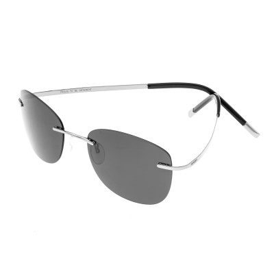 Breed Adhara Polarized Sunglasses - Silver/Black