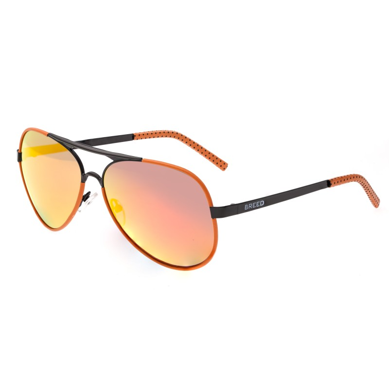 Breed Genesis Polarized Sunglasses - Black/Red-Yellow BSG046BK