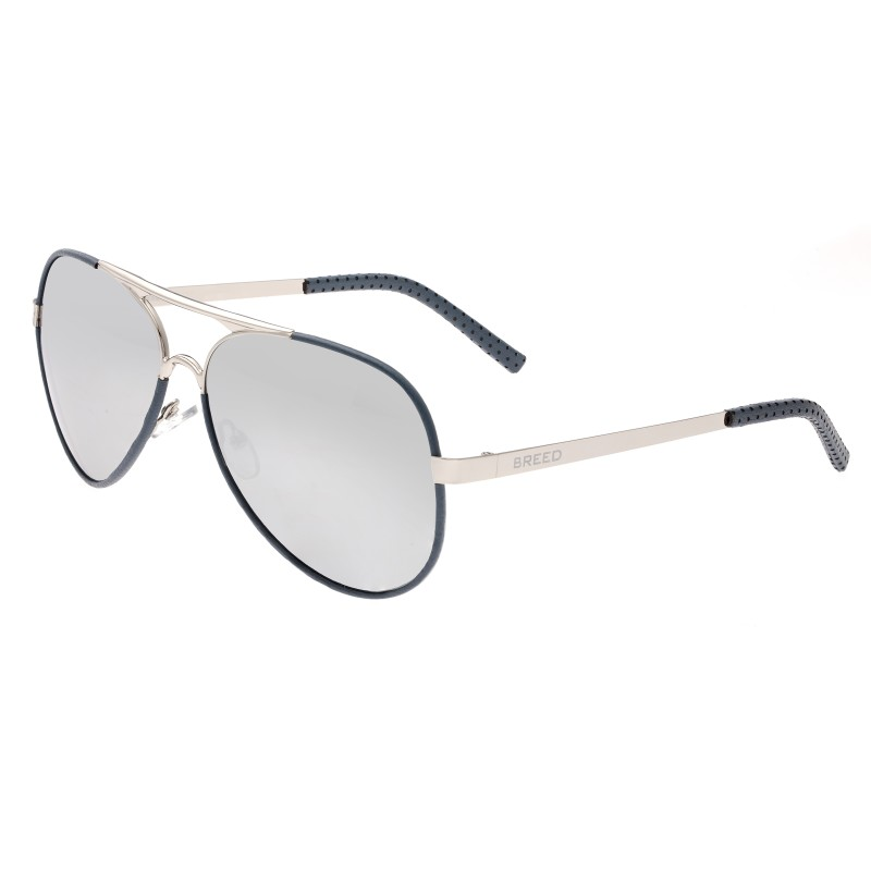 Breed Genesis Polarized Sunglasses - Silver/Silver BSG046SL