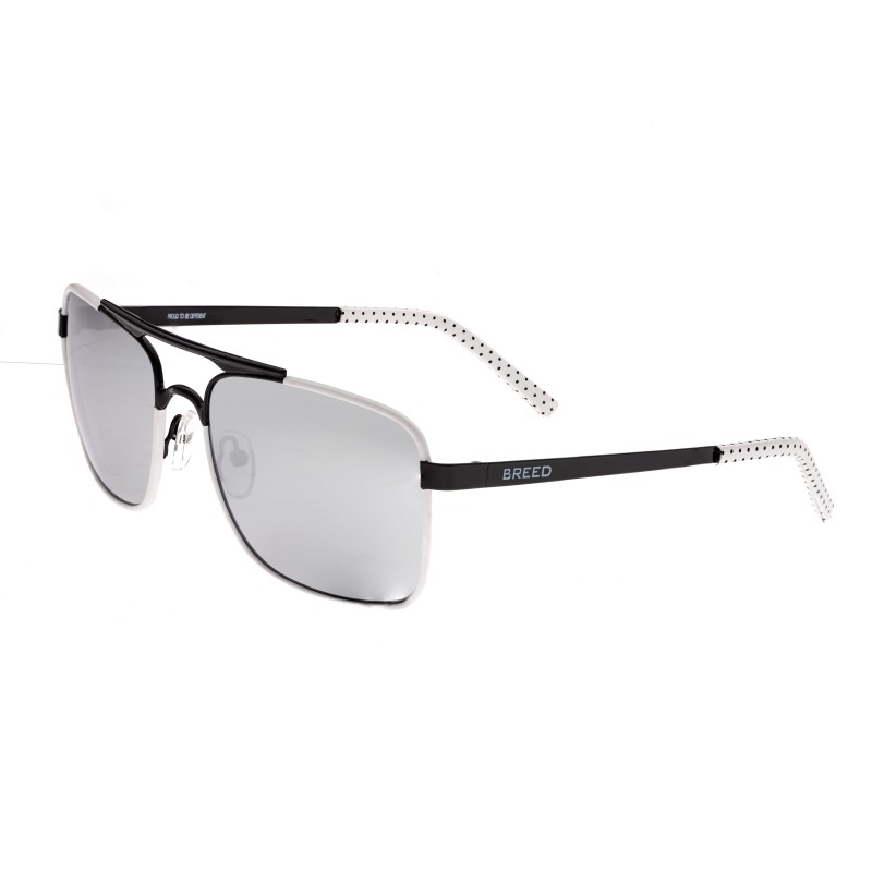Breed Draco Polarized Sunglasses - Black/Silver BSG047BK
