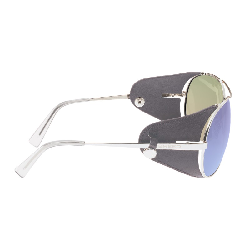 Breed Eclipse Titanium Polarized Sunglasses - Silver/Purple-Blue BSG048GY