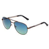 Breed Leo Titanium Polarized Sunglasses - Brown/Blue-Green BSG051BN