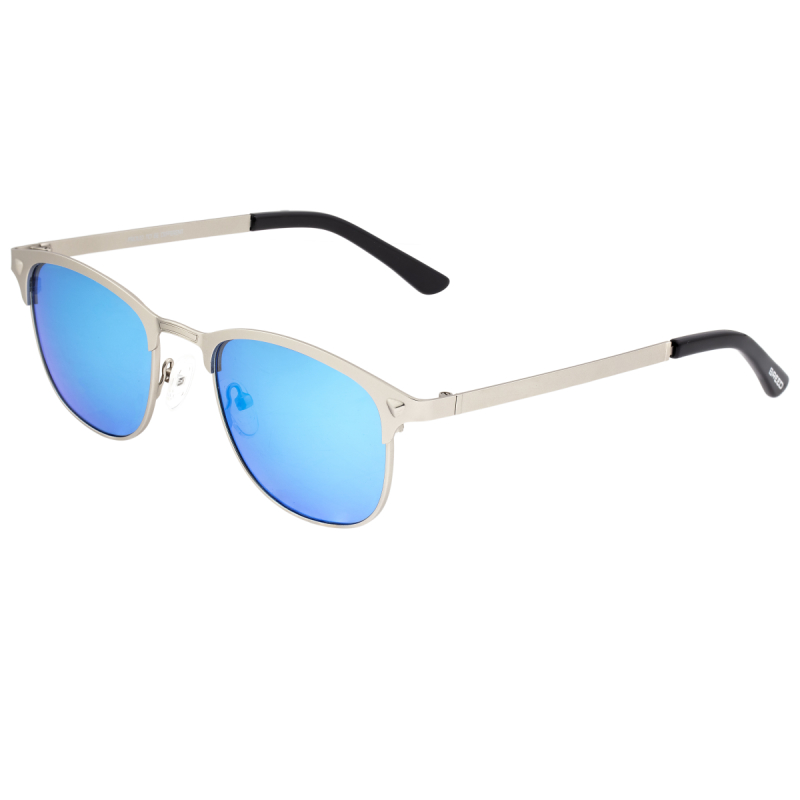 Breed Phase Titanium Polarized Sunglasses - Silver/Celeste BSG058SL