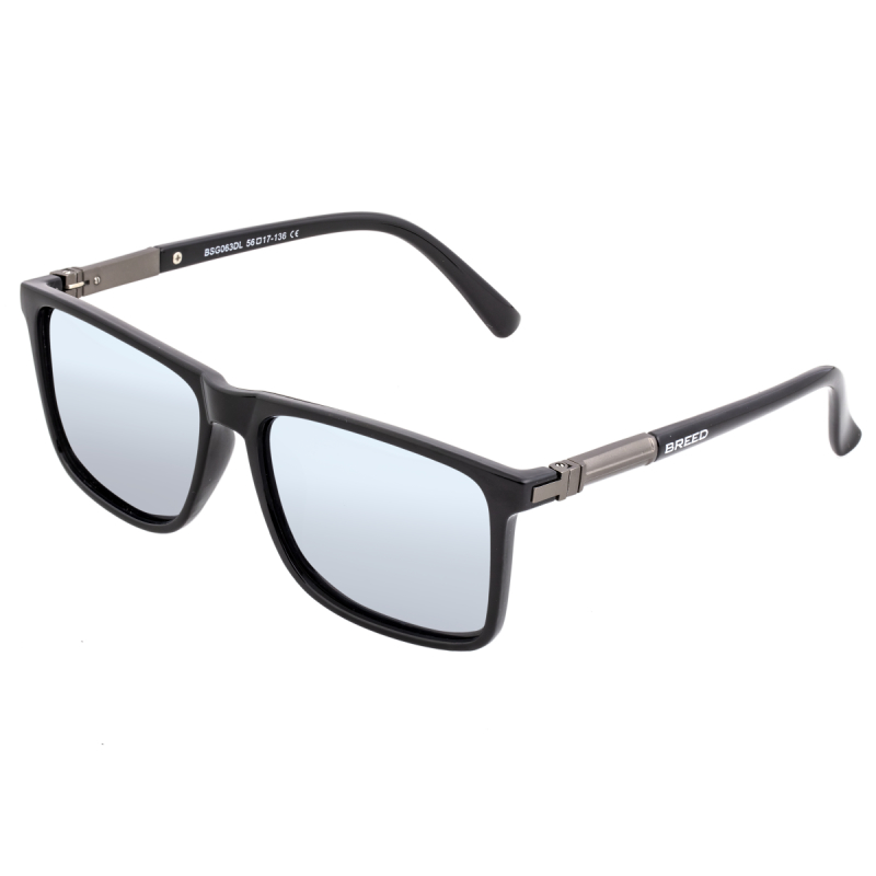 Breed Caelum Polarized Sunglasses - Black/Silver BSG063DL