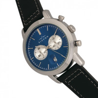 Elevon Langley Chronograph Leather-Band Watch w/ Date - Blue/Black ELE103-6