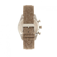 Elevon Curtiss Chronograph Nylon-Overlaid Leather-Band Watch - Silver/Brown ELE104-2