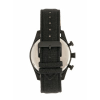 Elevon Curtiss Chronograph Nylon-Overlaid Leather-Band Watch - Black ELE104-6