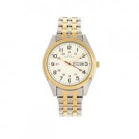Elevon Gann Bracelet Watch w/Day/Date - Gold/Silver ELE106-4