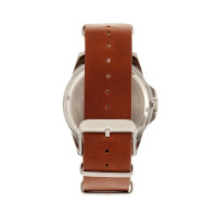 Elevon Dumont Leather-Band Watch - Silver/Brown  ELE108-2