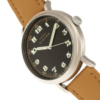 Elevon Felix Leather-Band Watch - Silver/Camel ELE109-3