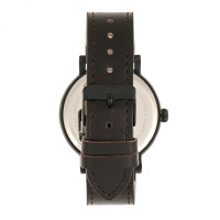 Elevon Felix Leather-Band Watch - Black/Dark Brown ELE109-6