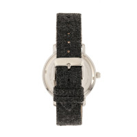 Elevon Northrop Wool-Overlaid Leather-Band Watch - Charcoal/Black ELE110-2