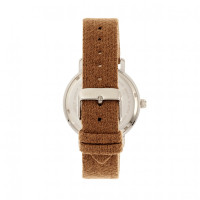 Elevon Northrop Wool-Overlaid Leather-Band Watch - Camel/Green ELE110-5