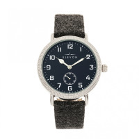 Elevon Northrop Wool-Overlaid Leather-Band Watch - Green/Black ELE110-3