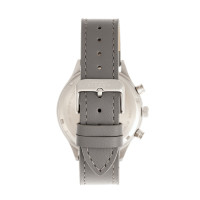 Elevon Antoine Chronograph Leather-Band Watch w/Date - Grey/Blue ELE113-6