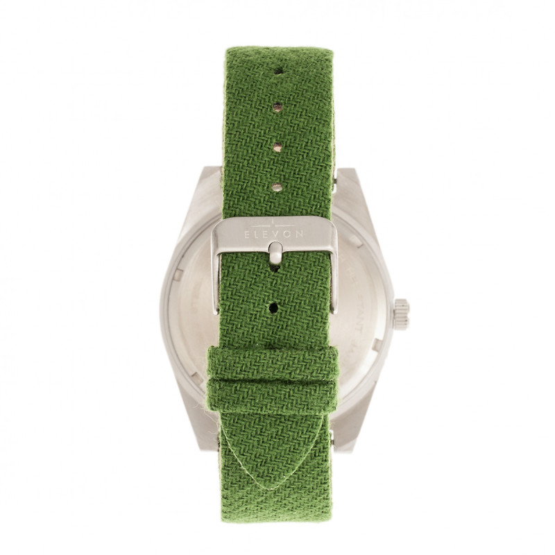 Elevon Jeppesen Pressed Wool Leather-Band Watch w/Date - Green ELE114-5