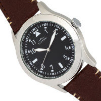 Elevon Hanson Genuine Leather Watch - Black  ELE117-1