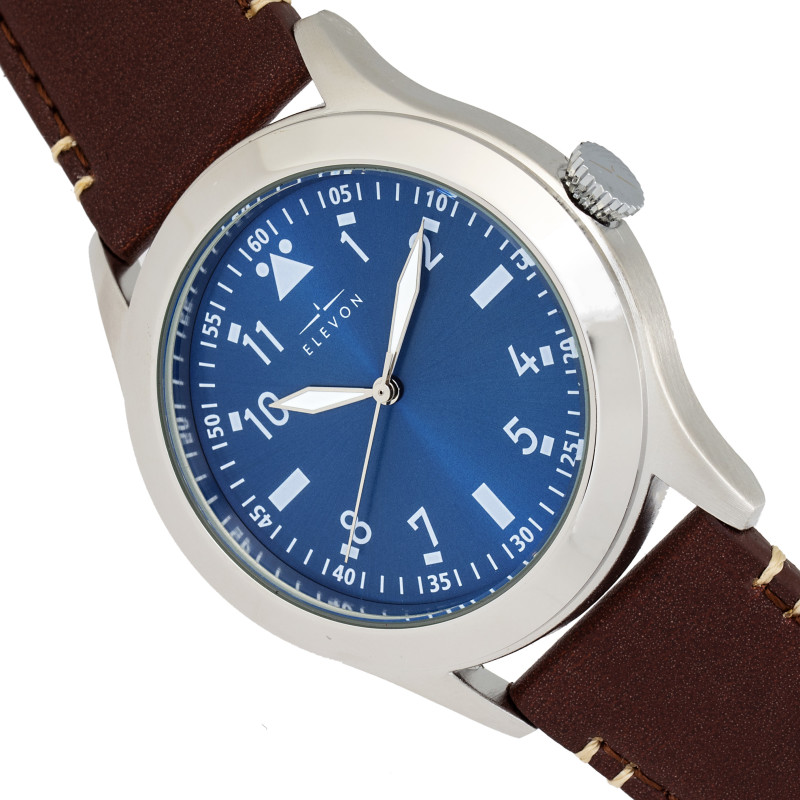Elevon Hanson Genuine Leather Watch - Blue ELE117-2