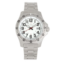Elevon Aviator Bracelet Watch w/Date - Silver/Brown ELE120-6