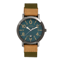 Elevon Mach 5 Canvas-Band Watch w/Date - Green ELE123-5