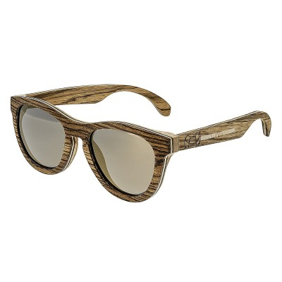 Earth Wood Del Carmen Polarized Sunglasses - Zebrawood/Brown