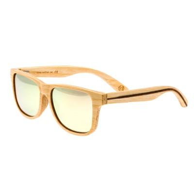 Earth Wood Solana Polarized Sunglasses - Bamboo/Rose Gold
