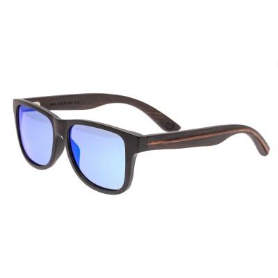 Earth Wood Solana Polarized Sunglasses - Ebony/Blue-Green