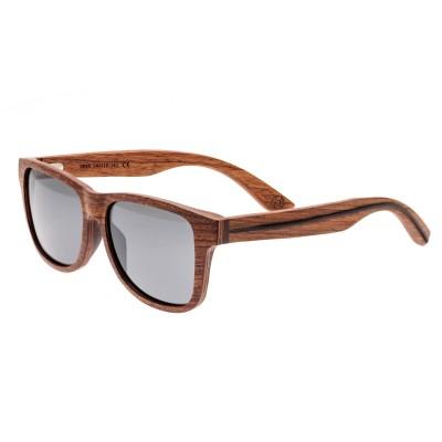 Earth Wood Solana Polarized Sunglasses - Red Rosewood/Black