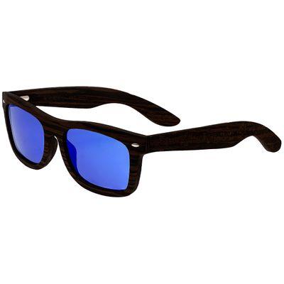 Earth Wood Maya Polarized Sunglasses - Ebony/Blue