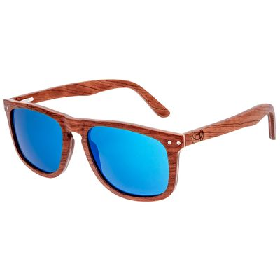 Earth Wood Pacific Polarized Sunglasses - Brown/Blue
