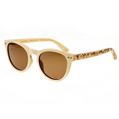 Earth Wood Copacabana Polarized Sunglasses - Bamboo/Brown