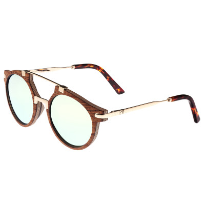 Earth Wood Petani Polarized Sunglasses - Annato/Gold-Green