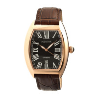 Heritor Automatic Redmond Leather-Band Watch w/Date - Gold/Silver