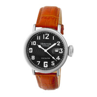 Heritor Automatic Olds Leather-Band Watch - Silver/Black/Black