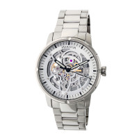 Heritor Automatic Ryder Skeleton Leather-Band Watch - BlackWhite